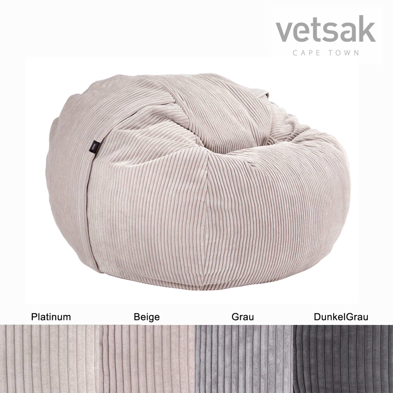 Vetsak Sitzsack Medium Cord Velours In 4 Farben