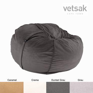 vetsak Sitzsack Medium Velvet  in 4 Farben – Bild 2