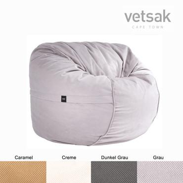 vetsak Sitzsack Medium Velvet  in 4 Farben – Bild 6