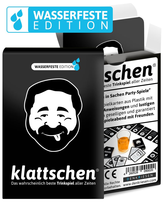 DENKRIESEN - klattschen® - Trinkspiel - WASSERFESTE EDITION