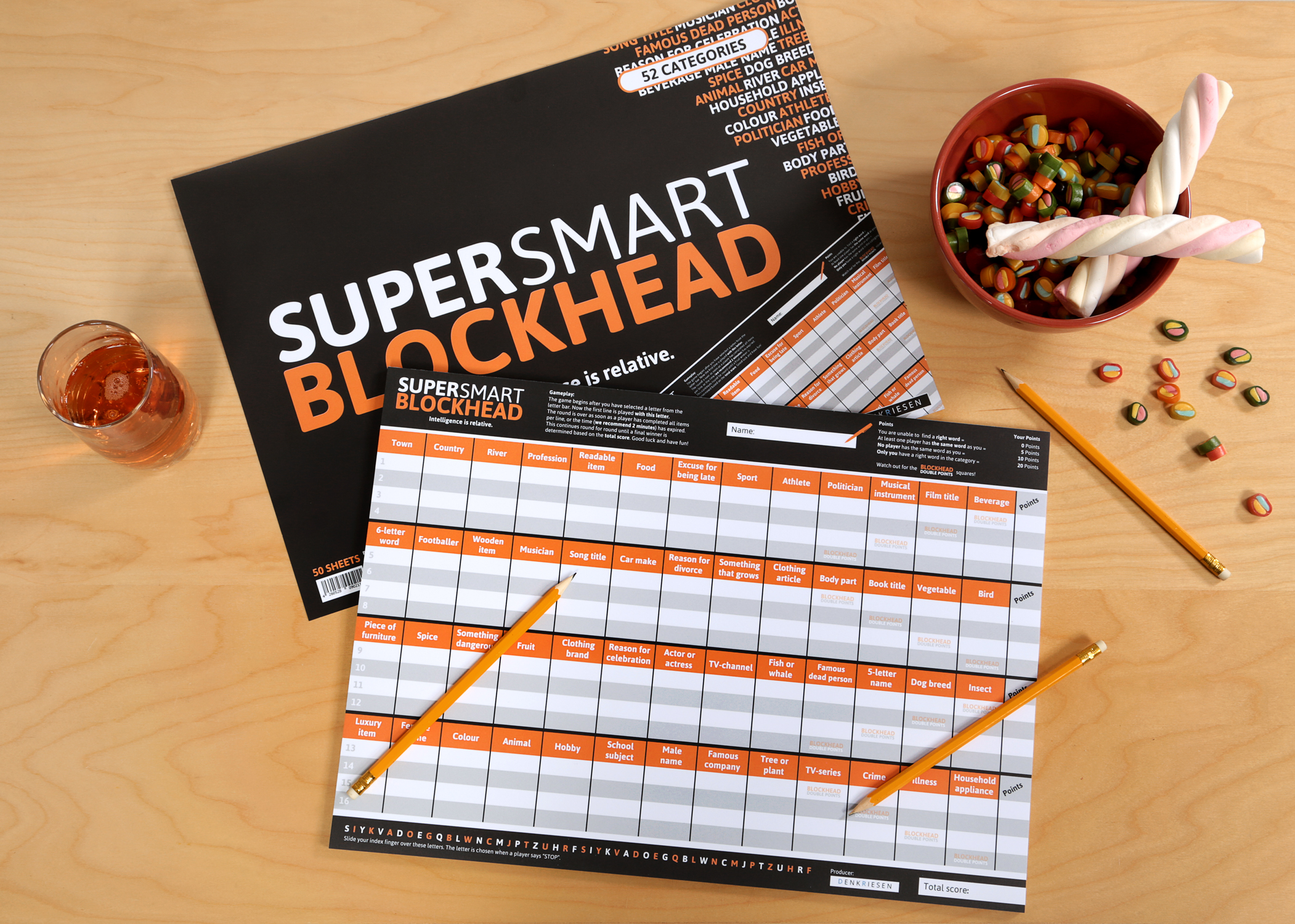 DENKRIESEN - SUPER-SMART-BLOCKHEAD -  Intelligence is relative