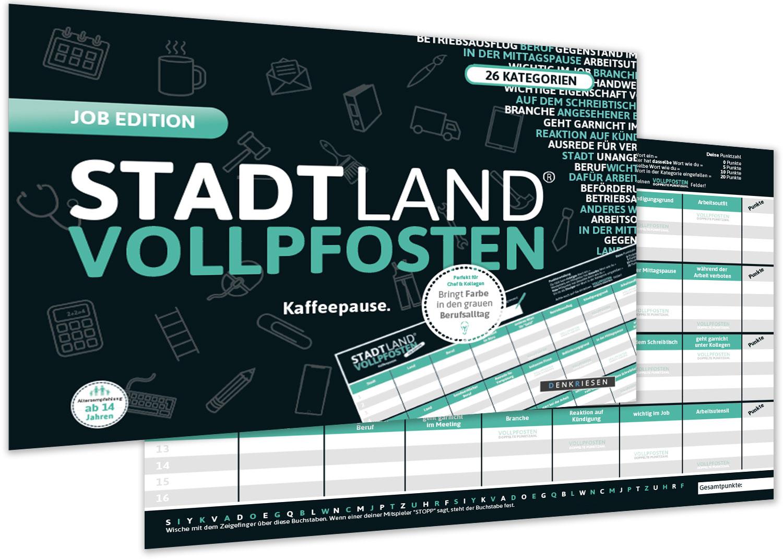 DENKRIESEN - STADT LAND VOLLPFOSTEN® - JOB EDITION  Kaffeepause.