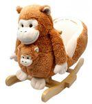 Schaukelaffe *BUNGA* mit Baby Schaukeltier - Schaukelpferd