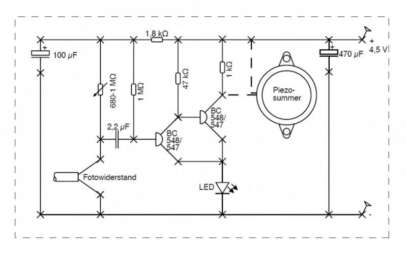 elektronik schaltung bewegungsmelder 39 cerberus 39 elektronik und e technik elektronikschaltungen. Black Bedroom Furniture Sets. Home Design Ideas