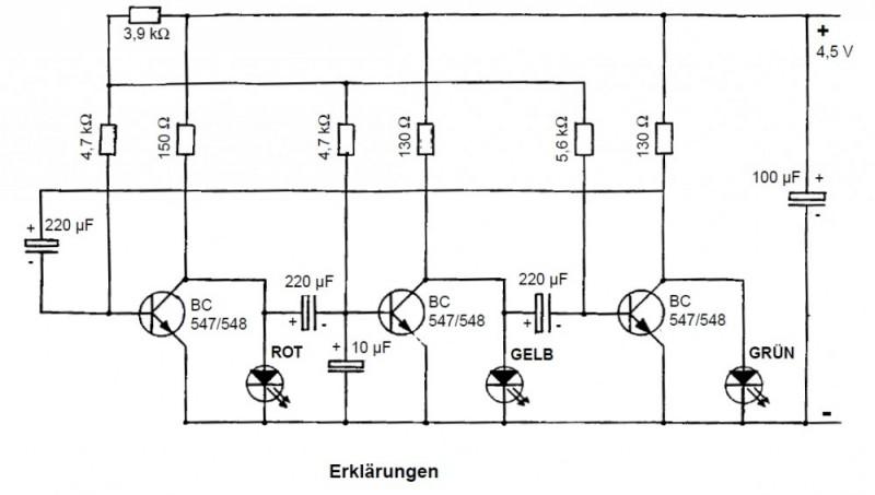 Elektronik Schaltung: LED Ampel Elektronik und E-Technik ...