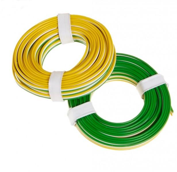 Litze 3-adrig, 3 x 18 x 0,1/ grün, weiß, gelb Elektronik und E ...