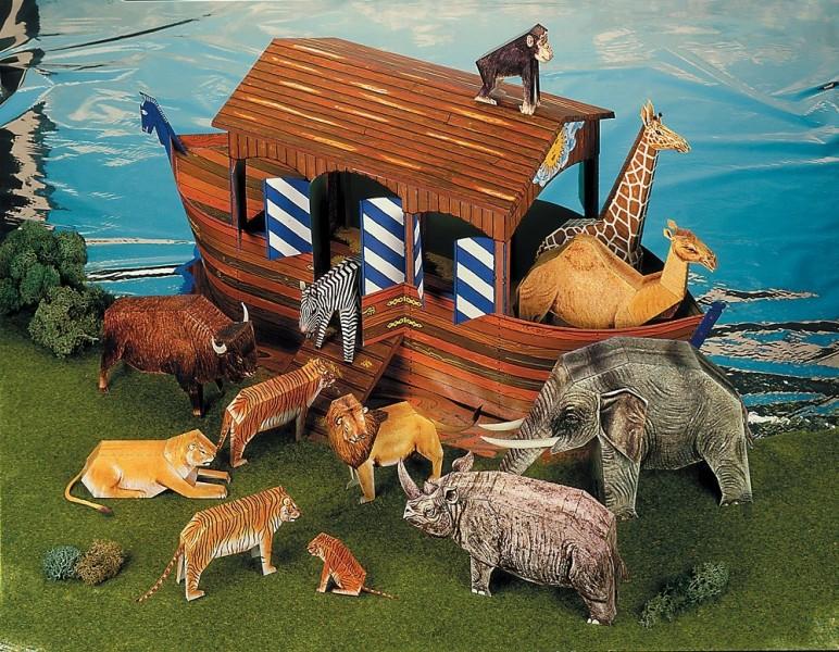 Arche Noah Mit 12 Tieren Kreative Beschaftigung Basteln Mit Papier