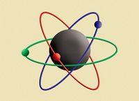 "Effekt-Postkarte Wackelbild ""Atommodell"" 002"