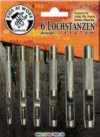 Lochstanzen Set 3-8mm, 6 Stück 001
