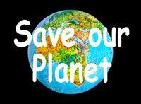 "Effekt-Postkarte 3D: ""Save our Planet"" 002"