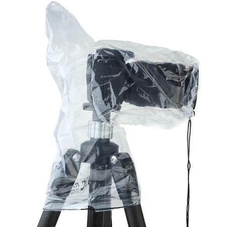 JJC Einweg-Regenschutzhülle für spiegellose Systemkamera mit Aufsteckblitz - 2 Stk. - transparent – Bild 2