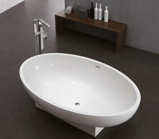 Freistehende Badewanne aus Mineralguss KZOAO-1008 – Bild 2