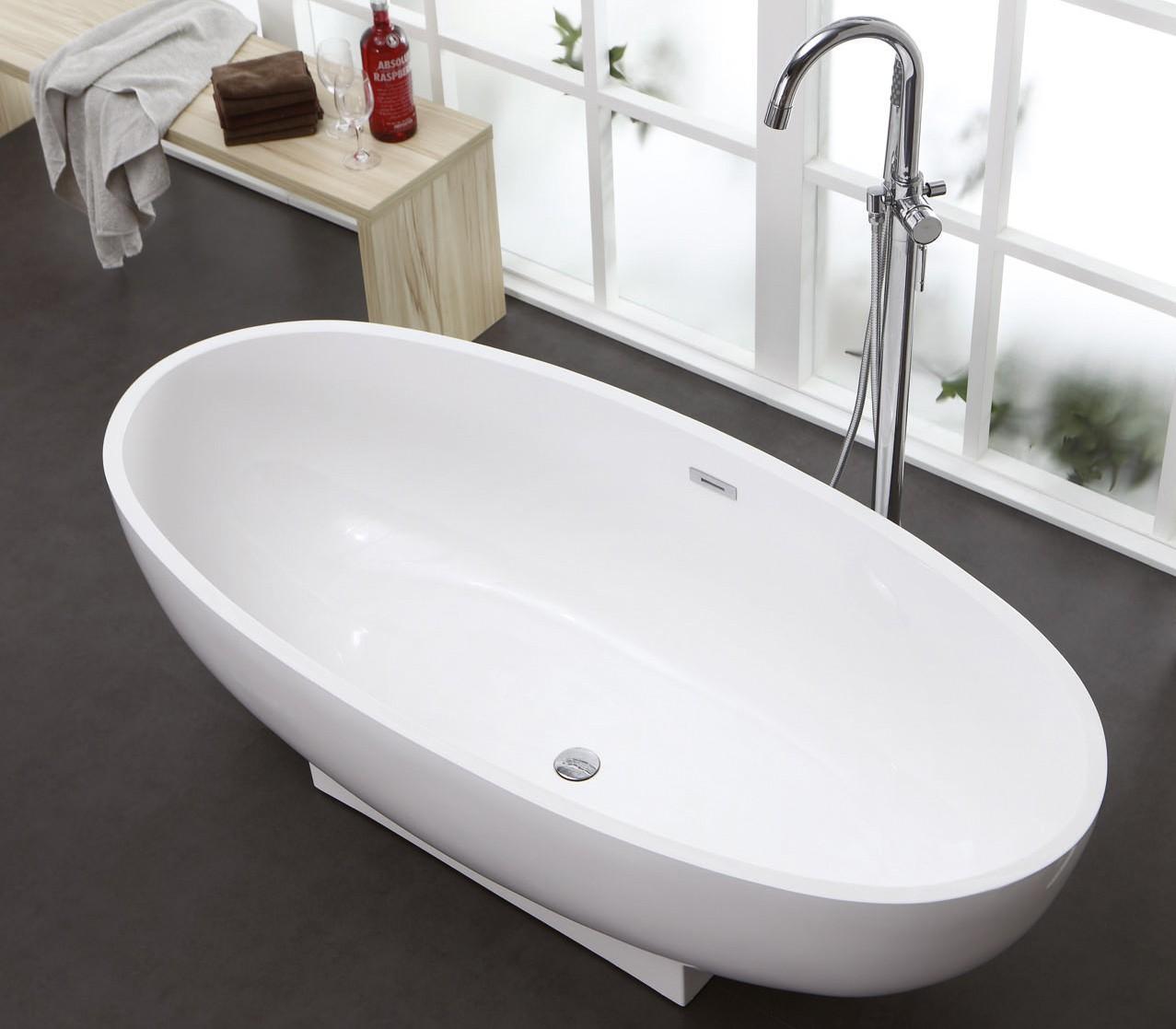 freistehende badewanne aus mineralguss kzoao 1170 badewelt wannen kunststein. Black Bedroom Furniture Sets. Home Design Ideas
