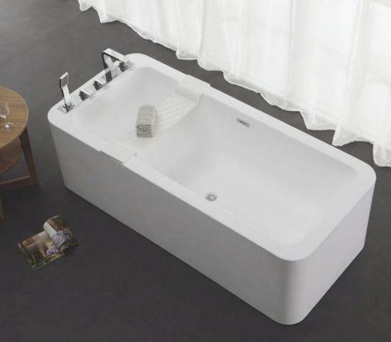 Freistehende Badewanne aus Mineralguss KZOAO-1180 – Bild 2