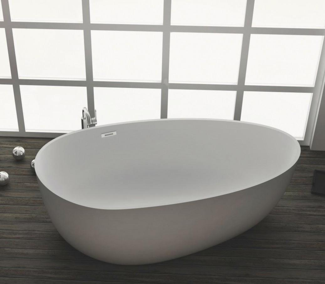 freistehende badewanne aus mineralguss kzoao 1485 badewelt wannen kunststein. Black Bedroom Furniture Sets. Home Design Ideas
