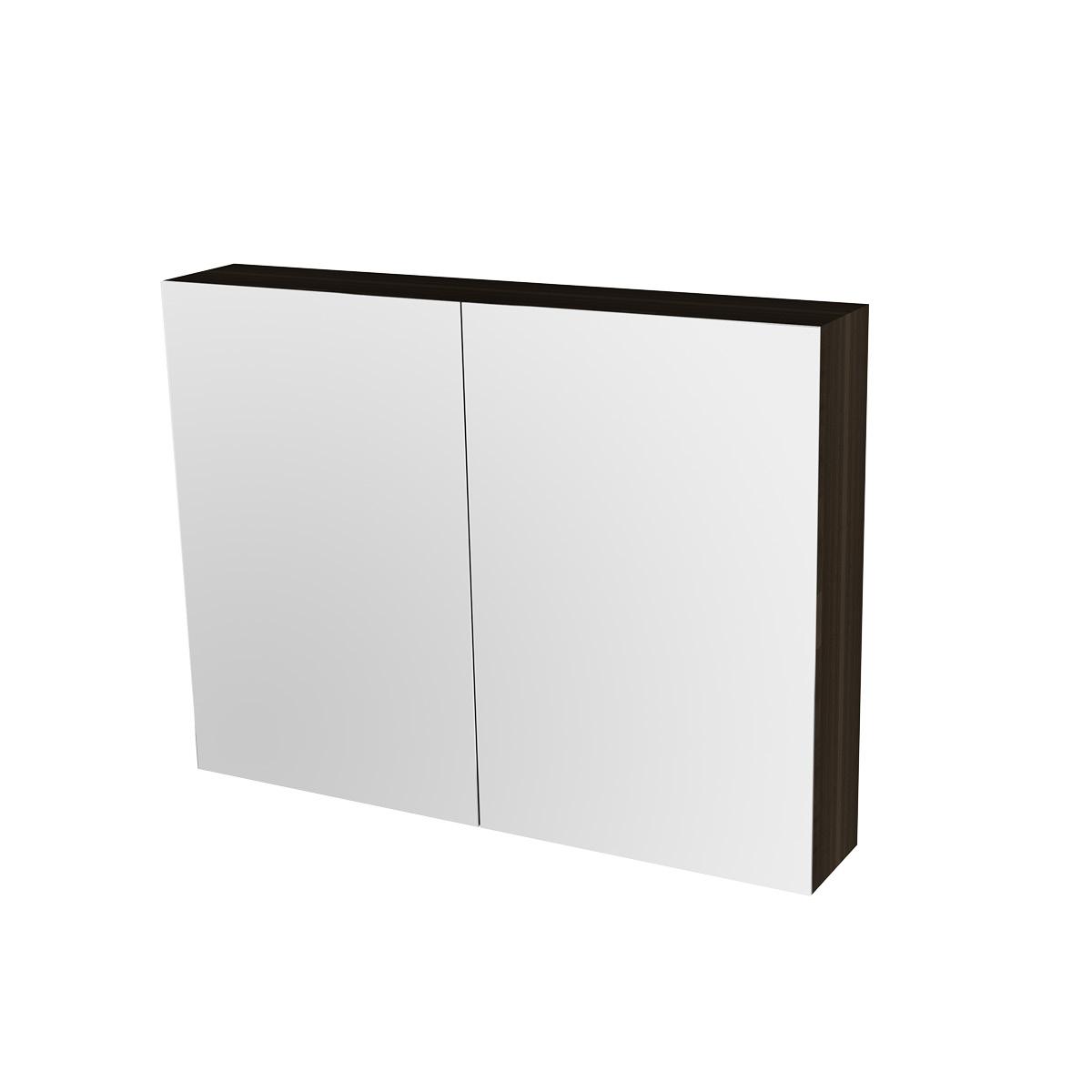 Spiegelschrank 80 cm nussbaum Badewelt Badezimmer Möbel
