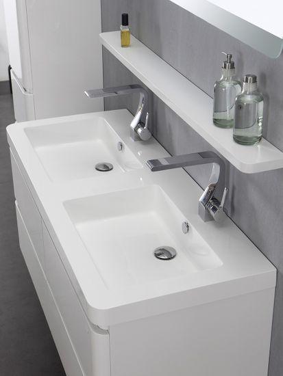 Berlin Waschtisch-Set 120 cm weiß – Bild 4