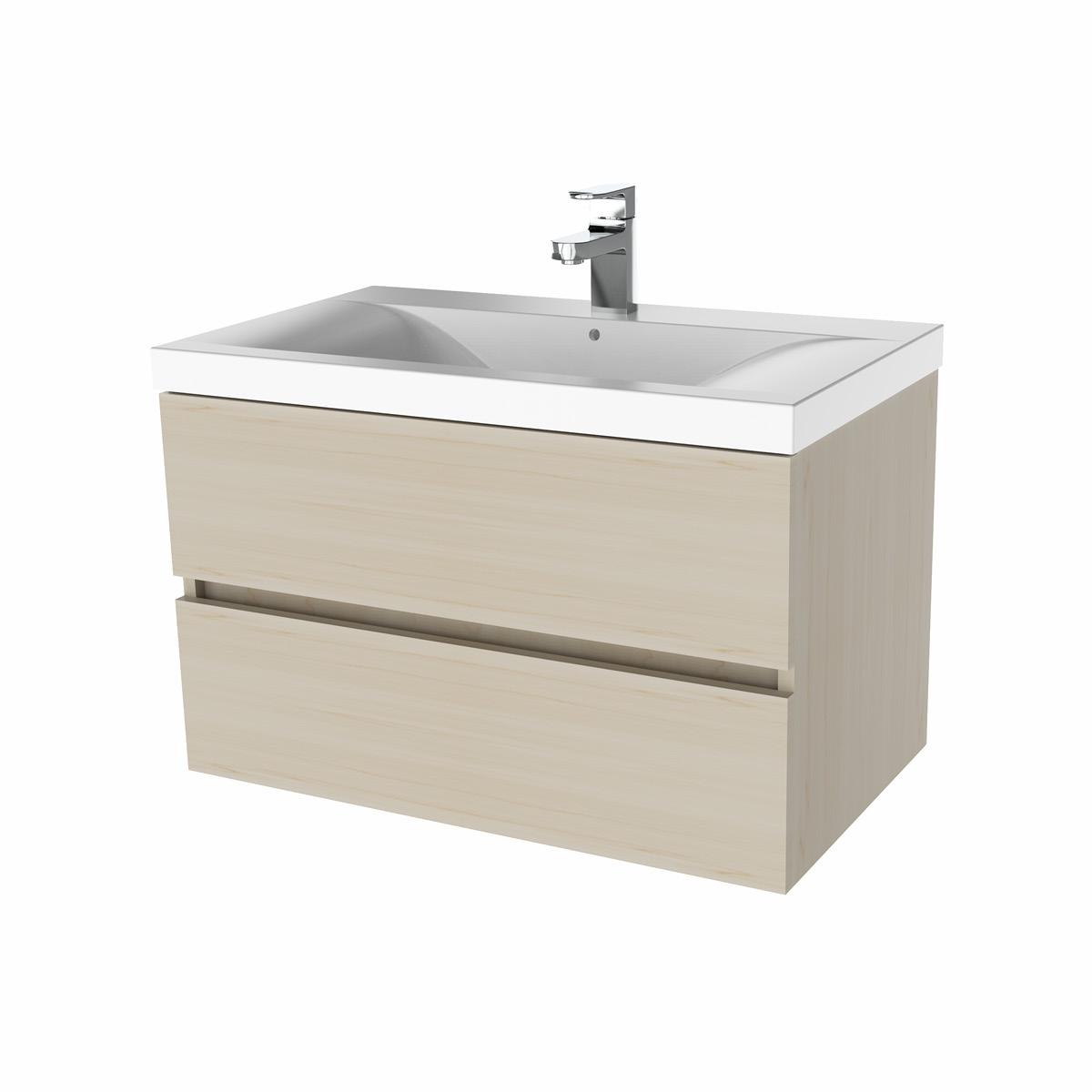 Paris waschtisch set 80 cm kernahorn badewelt badezimmer m bel for Badezimmer waschtisch set