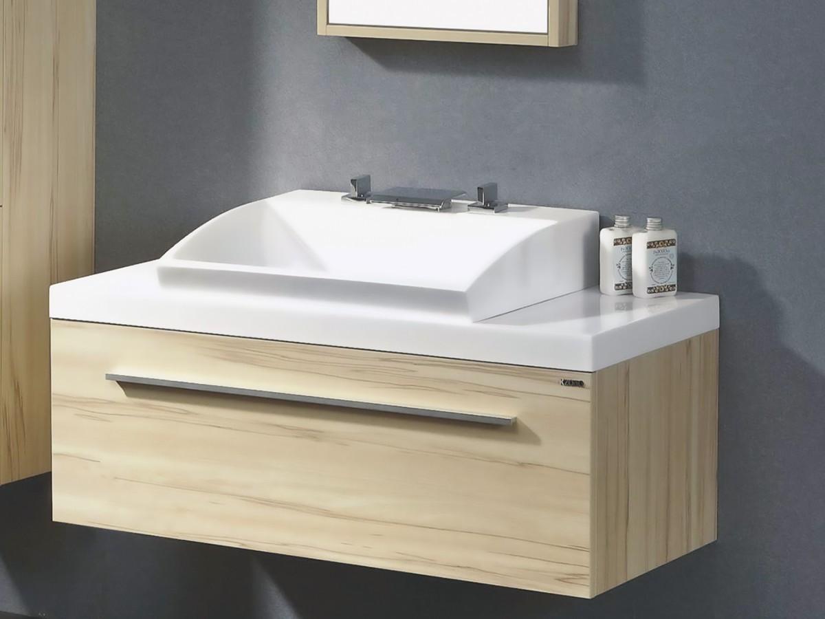 London waschtisch set 100 cm kernahorn badewelt badezimmer for Badezimmer waschtisch set