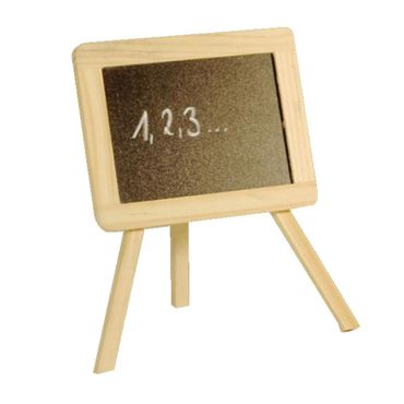 proheim Kreidetafel zum Stellen 19,5 x 18 cm aus Holz inkl. Kreide 78054