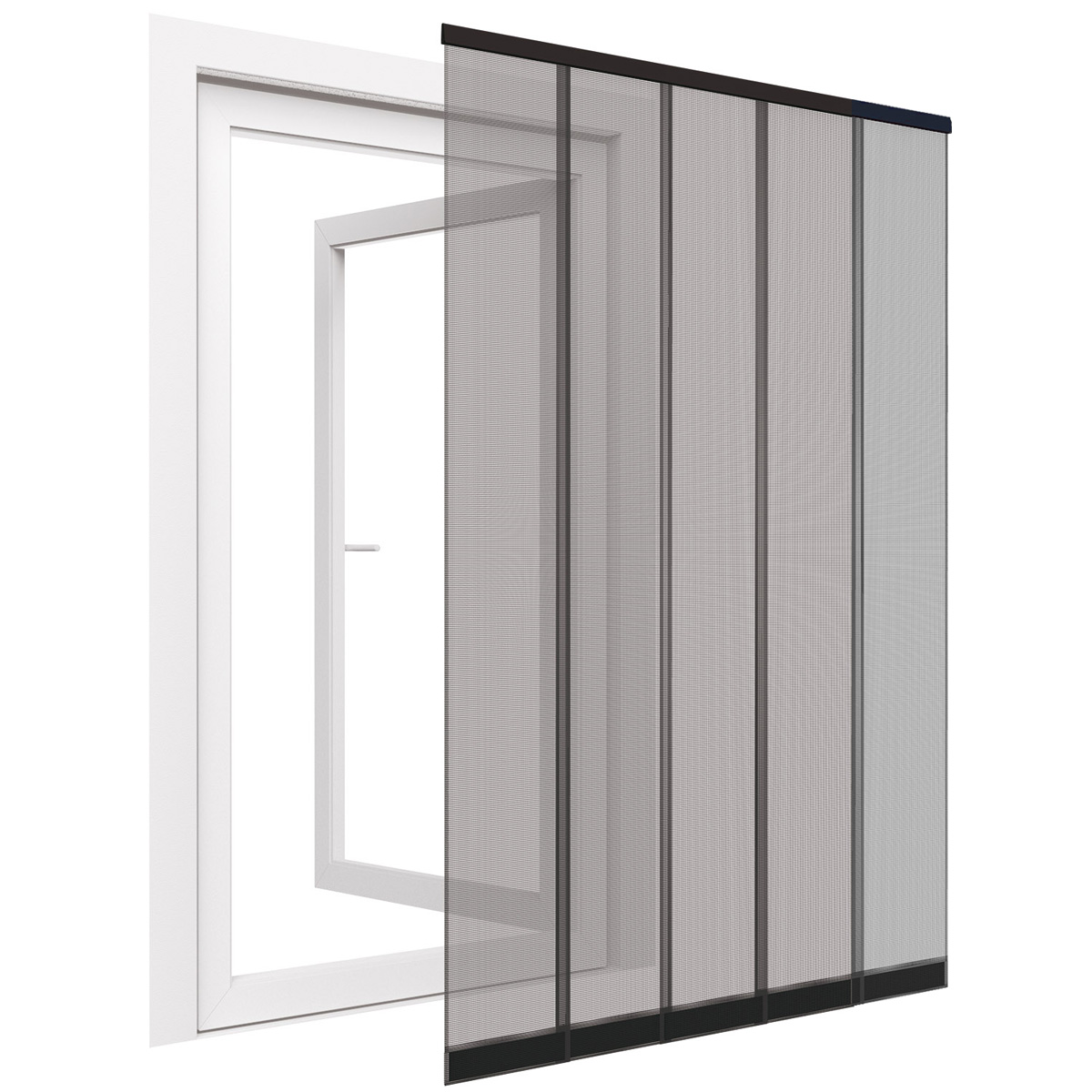 xxl insektenschutz t r vorhang 125x240cm fliegengitter lamellen fliegennetz ebay. Black Bedroom Furniture Sets. Home Design Ideas