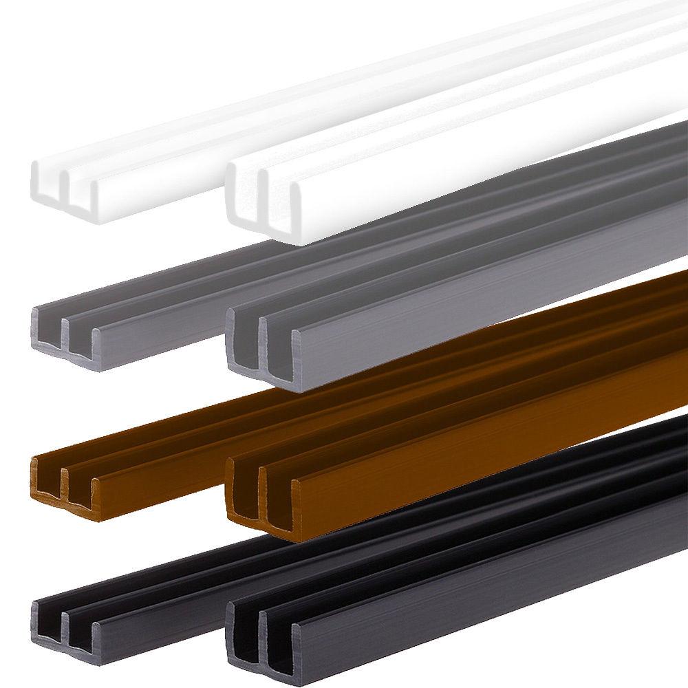 Longueur:100 cm Montage en Bas et en Haut PROHEIM Set profil/és avec Chemin Guidage pour vivariums de Couleur:Noir id/éals pour Monter des terrariums - Profil/és pour /épaisseur de Verre de 6 mm