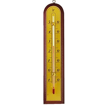 proheim Zimmer Thermometer Comfort 20 CM aus Holz & Metall 012366