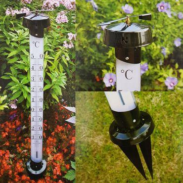 proheim XXL Garten Thermometer Classic Kunststoff mit Erdspießen 012361