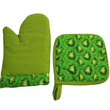 Topflappen / Handschuh Sets von proheim 2-teilig in Grün und Orange