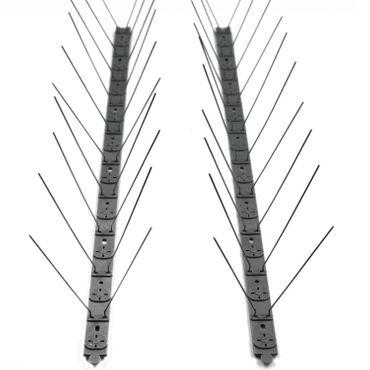 proheim Taubenabwehr Set mit Edelstahl-Spießen und 5 Meter langen Schiene in grau