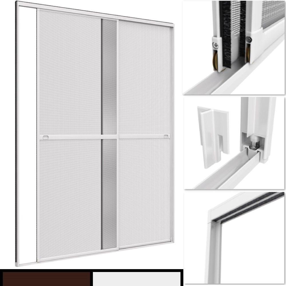proheim insektenschutz doppelschiebet r 230 x 240 cm alu m ckenschutz powerpreise24 starke. Black Bedroom Furniture Sets. Home Design Ideas