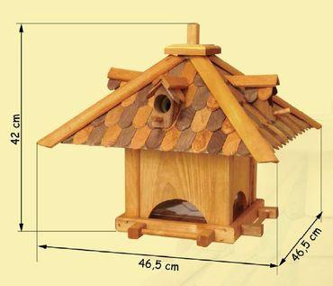 proheim Vogelfutterhaus 142 x 46,5 x 46,5 cm zum Aufstellen K68B