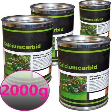 Karbid 2000g bewährtes & ergiebiges Calciumkarbid in großen Stücken mit Langzeitwirkung