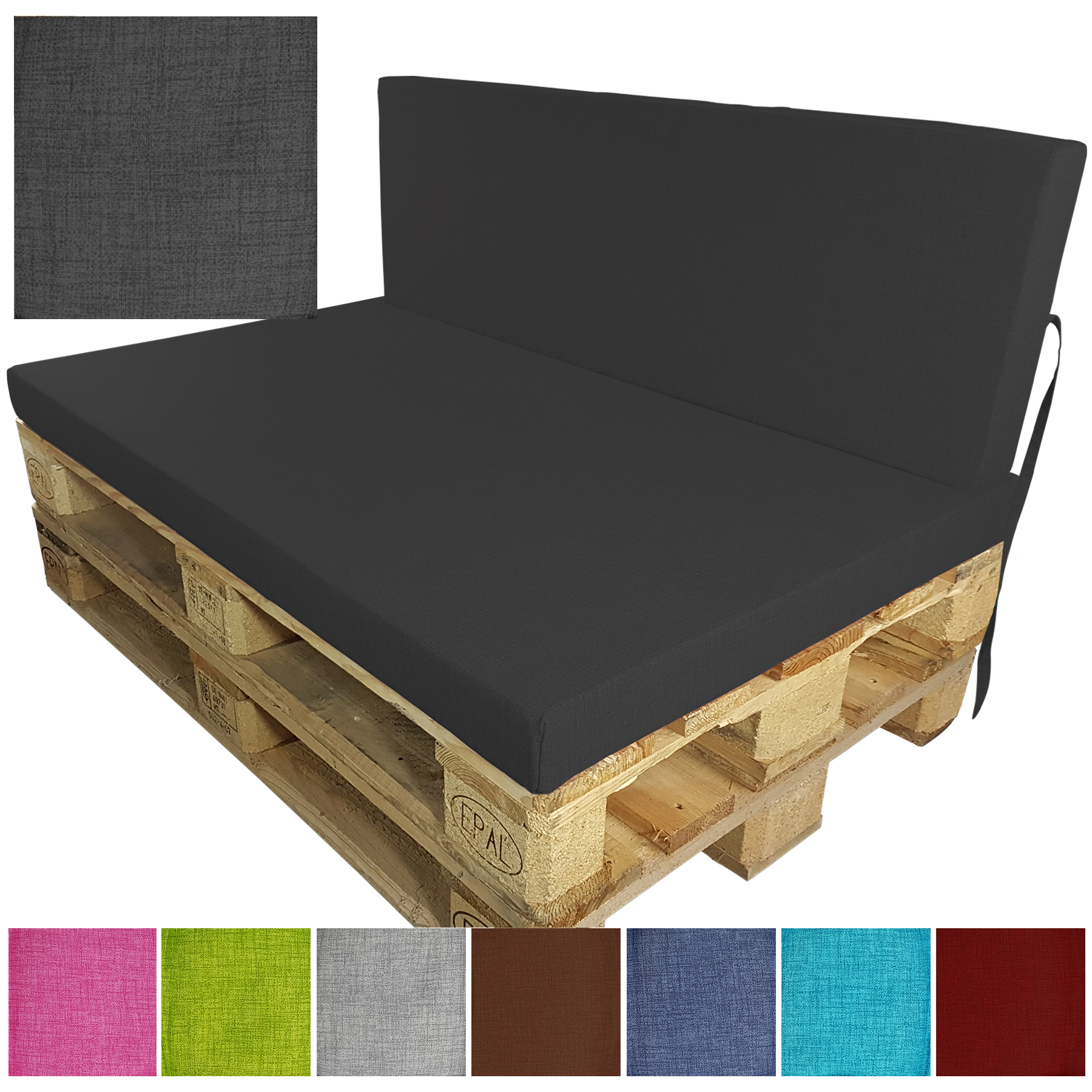 pallet cushions euro paletten polster outdoor sofa edition seat pad seat pad ebay. Black Bedroom Furniture Sets. Home Design Ideas
