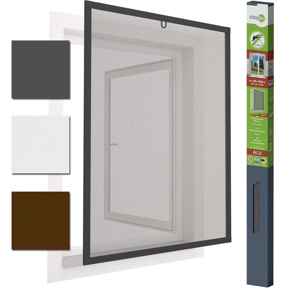 easy life insektenschutz alu fenster mit dichtungsb rste. Black Bedroom Furniture Sets. Home Design Ideas
