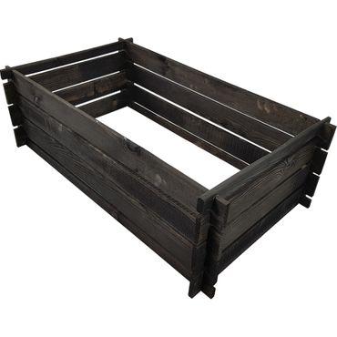 proheim Holz-Komposter 95 x 55 x 30 cm anthrazit Steckkomposter