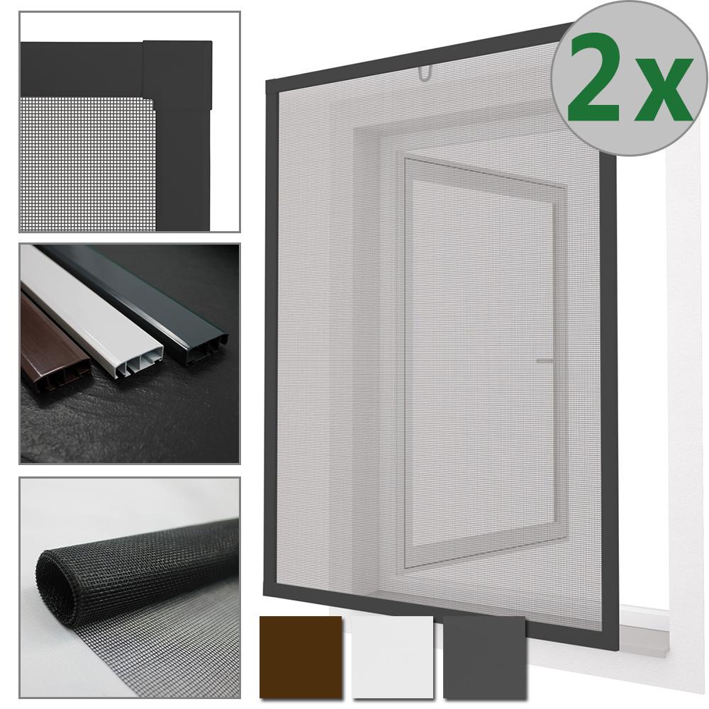5x insektenschutzfenster alu rahmen fenster bausatz fliegengitter m ckengitter ebay. Black Bedroom Furniture Sets. Home Design Ideas