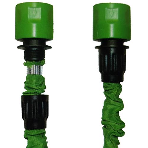 15 Meter Flexibler Gartenschlauch Wasserschlauch Dehnbarer Flexischlauch Grün