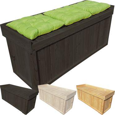 proheim Auflagenbox 1325 x 640 x 600 cm Gartentruhe mit Sitz aus Holz