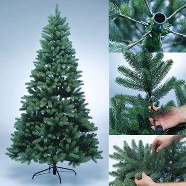 proheim Premium Voll-PE Weihnachtsbaum mit LED Beleuchtung und Standfuß