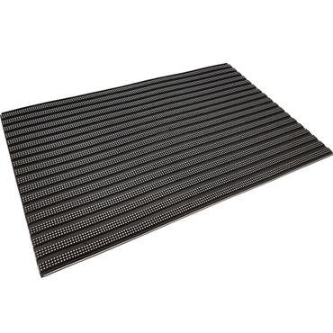 proheim Fußmatte Silverstripe 45 x 75 cm Türmatte aus Gummi rutschfest