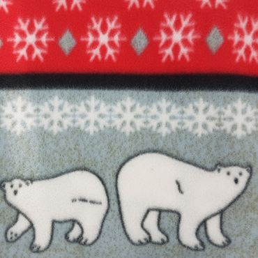 2er Pack Ärmeldecke Cozy Bears 150 x 170 cm Winter-Polarfleecedecke