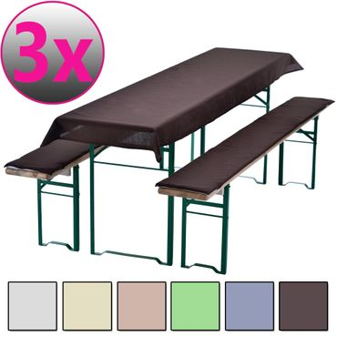 4er Set Bierbankauflagen Sets UNI 240 x 90 cm