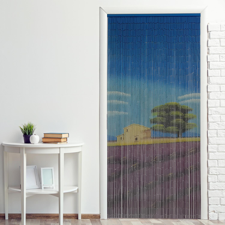 bambusvorhang 90x200cm natur t rvorhang dekovorhang bambust rvorhang raumteiler ebay. Black Bedroom Furniture Sets. Home Design Ideas