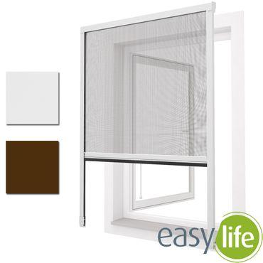 easy life Insektenschutz Alu Rollo für Fenster Maßzuschnitt