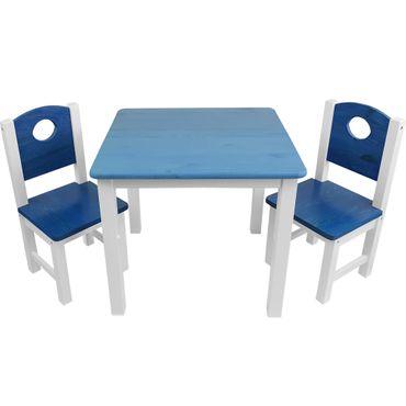 Kinder-Sitzgruppe 3tlg. – 1 Tisch und 2 Stühle