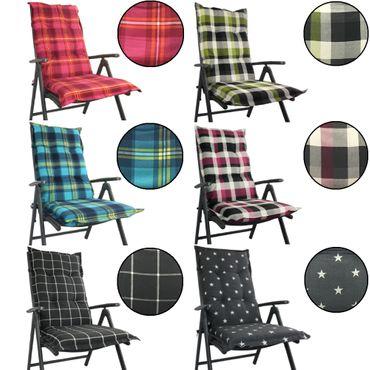 Hochlehner Auflage für Gartenstühle 120 x 50 x 8 cm