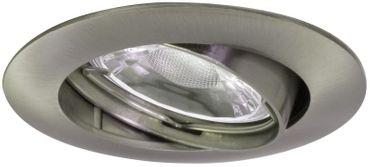 LED Einbauleuchte EBL R5 1L 300lm satin GU10 adj. SB rd CL