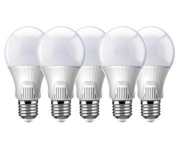 5er-Set Lucy Phere Led Lampe-Leuchtmittel-Birnenform mit Samsung Chip E27 Sockel 7W (60W) schöne hellweiße 4000K, 220-240V, elegantes Design, Lebensdauer 25.000h, 4 Jahre Herstellergarantie