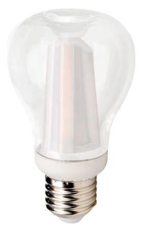 5er-Set Lucy Phere Led Lampe-Leuchtmittel-Birnenform, dimmbar, E27 Sockel 8W (60W) schöne warmweiße 3000K, 220-240V, elegantes Design (Appleform), integr. Kühlung lange Lebensdauer 30.000h, sehr lange 4 Jahre Herstellergarantie